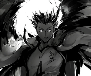 haikyuu, anime, and bokuto image
