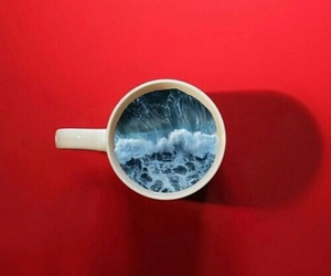 red, cup, and sea image