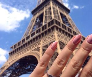 nails, paris, and pink image