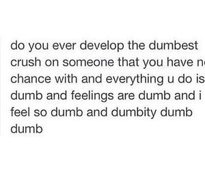 crush, dumb, and quote image
