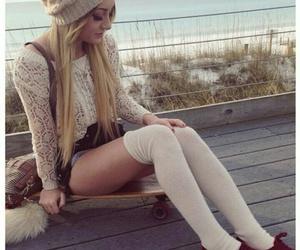 autumn, kneesocks, and beautiful image