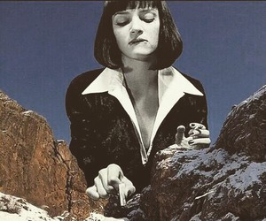 pulp fiction, uma thurman, and mountains image