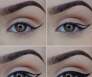 brown eyes, eyebrow, and eyeliner image