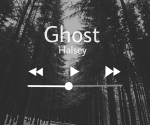 ghost, music, and halsey image