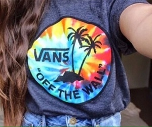 vans, shirt, and summer image