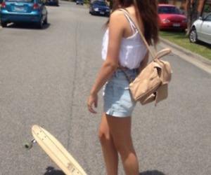 girl, hipster, and skate image