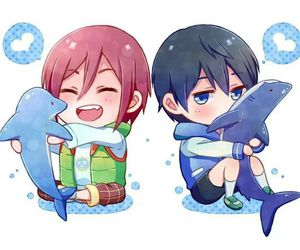 chibi, rin, and free! image