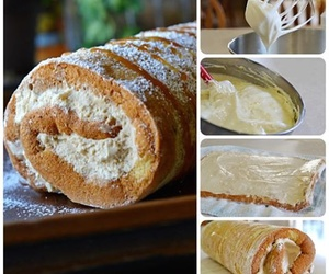 cake, cooking, and cream image