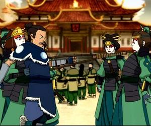 the last airbender, suki, and team avatar image