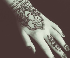 beautiful, henna, and tattoo image