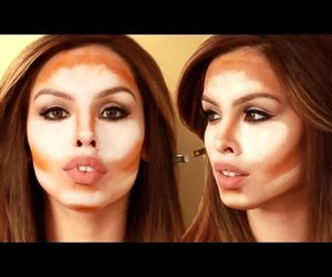 kim kardashian, tutorial, and conturing image