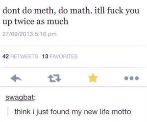 funny, math, and meth image