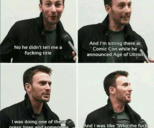 chris evans and funny image