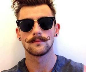 boy, mustache, and moustache image