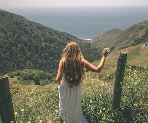 girl, nature, and freedom image