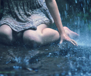 cold, dress, and water image
