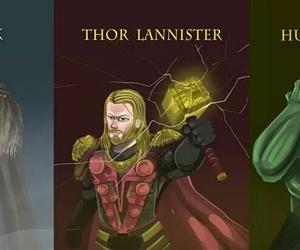 Hulk, thor, and tony stark image