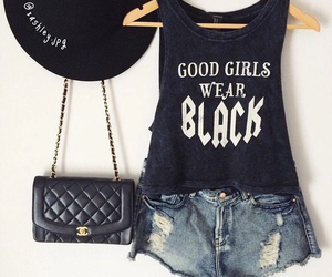 black, cute, and clothes image