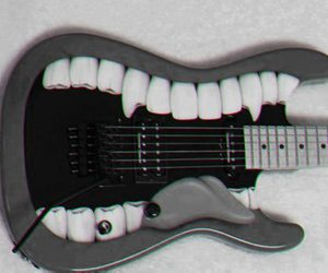 guitar, music, and mouth image