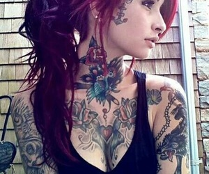 tattoo and hair image