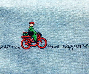 bicycle, jeans, and typography image
