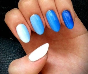blue, nails, and sweet image