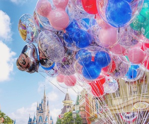 disney, balloons, and love image