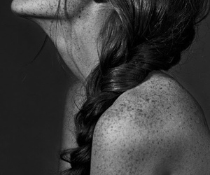 girl, freckles, and hair image