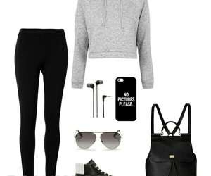 backpack, fashion, and headphones image