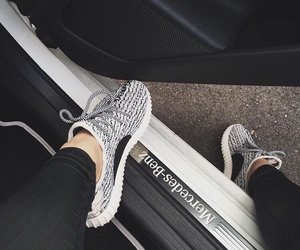 mercedes, car, and shoes image
