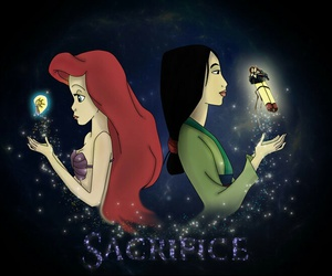 disney, ariel, and mulan image