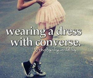 converse and dress image