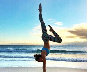 beach, fit, and fitness image