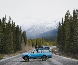 car, hipster, and mountains image