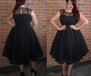 dress, black, and curvy image