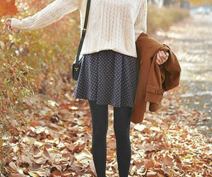 autumn, skirt, and white image