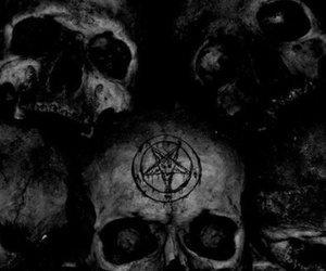 skull, black, and dark image
