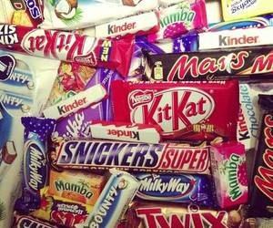 chocolate, food, and snickers image