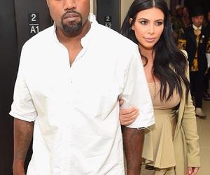 kanye west, kim kardashian, and kimye image