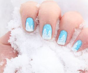 beautiful, nails, and snow image