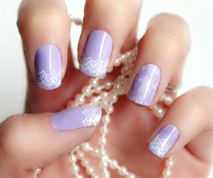 nails, purple, and lace image