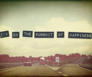 happiness, quote, and pursuit image