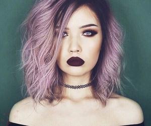 hair, makeup, and purple image