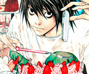 death note, L, and manga image