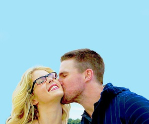 arrow, olicity, and stephen amell image