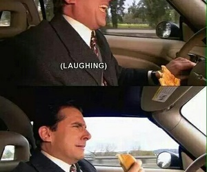 the office, funny, and crying image