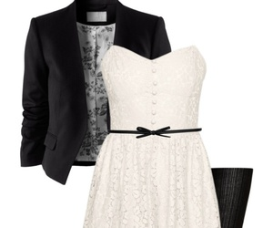 black and white, pinterest, and outfit image