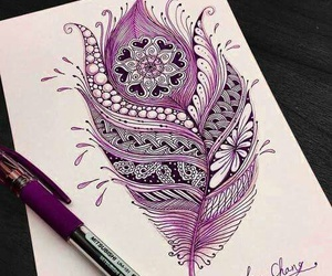 art, purple, and drawing image