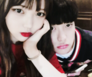 ulzzang, korean, and couple image