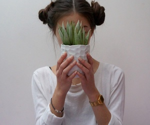 girl, plants, and tumblr image
